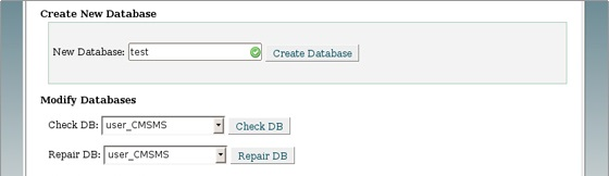 create database and mysql user