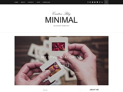 Creative Blogger Template Small