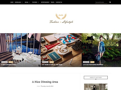 Lifestyle Fashion Blogger Template small