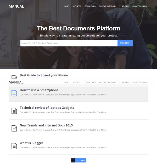 Manual Online Docs Blogger Template