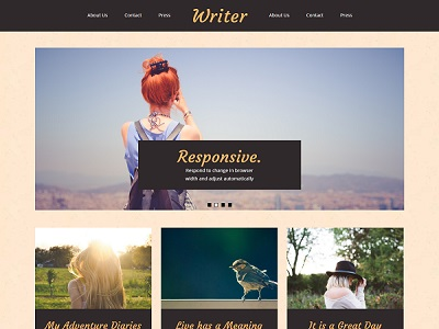 Writer Travel Blogger Template small