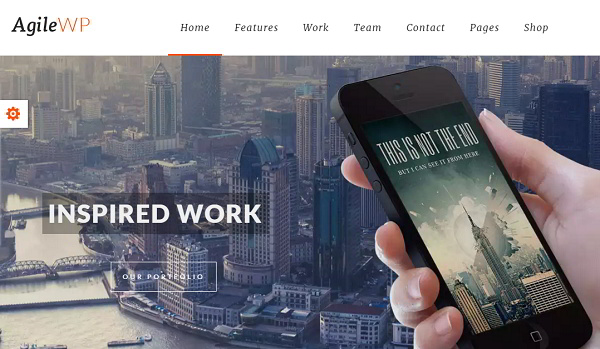 Agile app wordpress theme