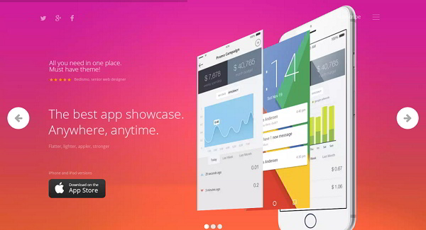 Appica App Showcase WordPress Theme