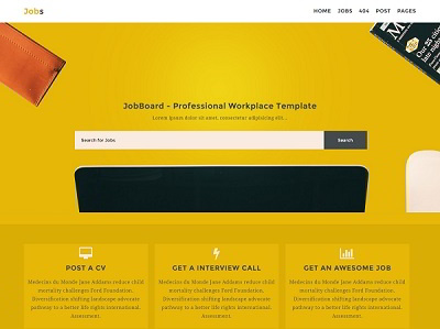 Jobs Listing blogger template small