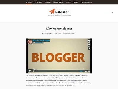 Publisher a classic blogger template small