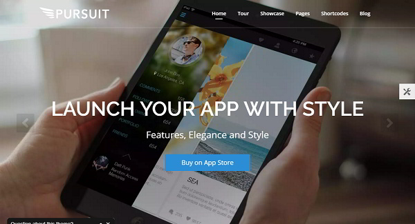 Pursuit app WordPress theme