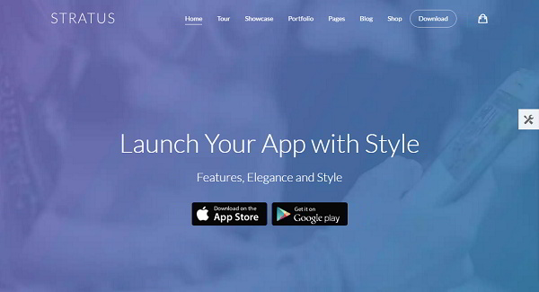Stratus App WordPress Theme