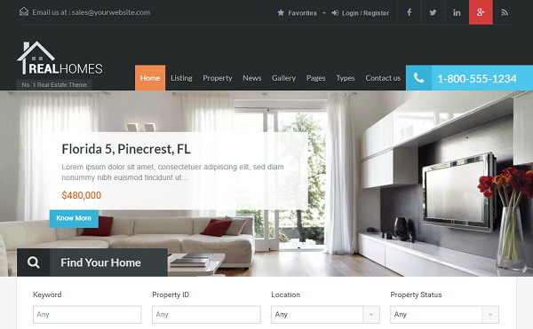 Real Homes WordPress Theme