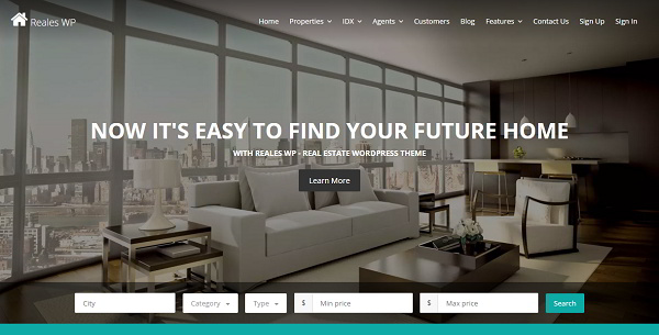 Reales WP  Premium Real Estate WordPress Theme