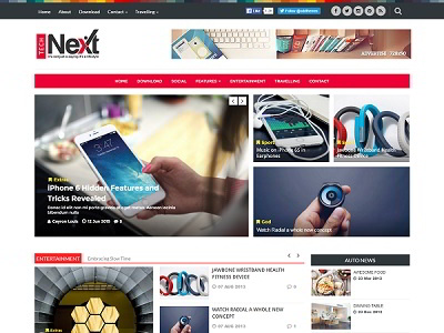Tech Next Magazine Blogger Template small