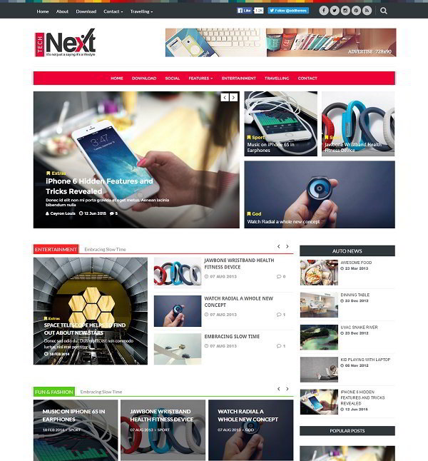 Tech Next Magazine Blogger Template