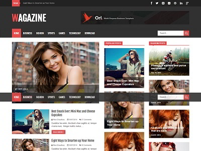 Wagazine Magazine Blogger Template small