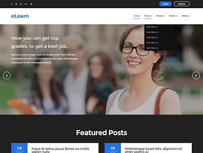 eLearn Blogger Template for education system small