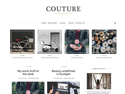 Couture grid view blogger template small