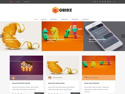 Gridz Masonry Blogger Template small