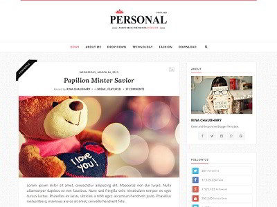 Personal Blogger Template small