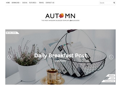 Autumn Personal blogger template small