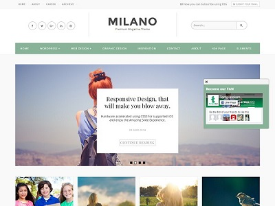 Milano Personal Blogger Template small