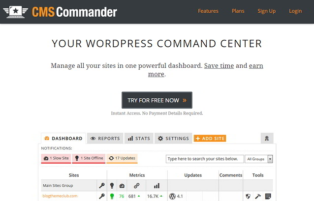 CMS Commander  to Manage Multiple WordPress Sites